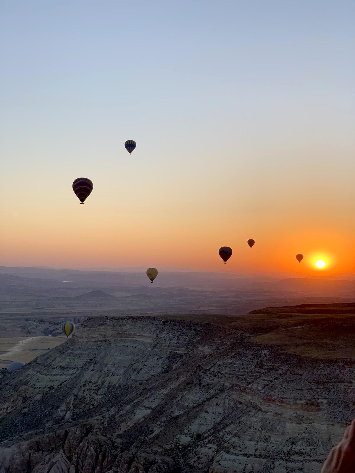 Kapadokija Putovanje Zalazak Sunca