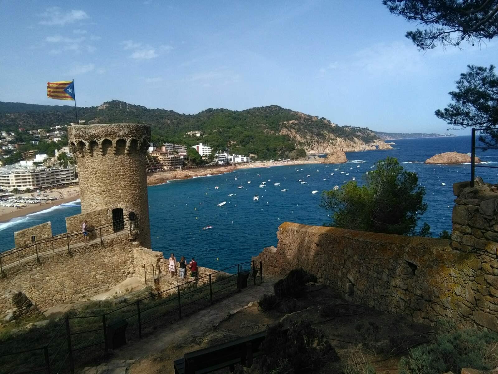 Leto Španija Tosa de Mar more