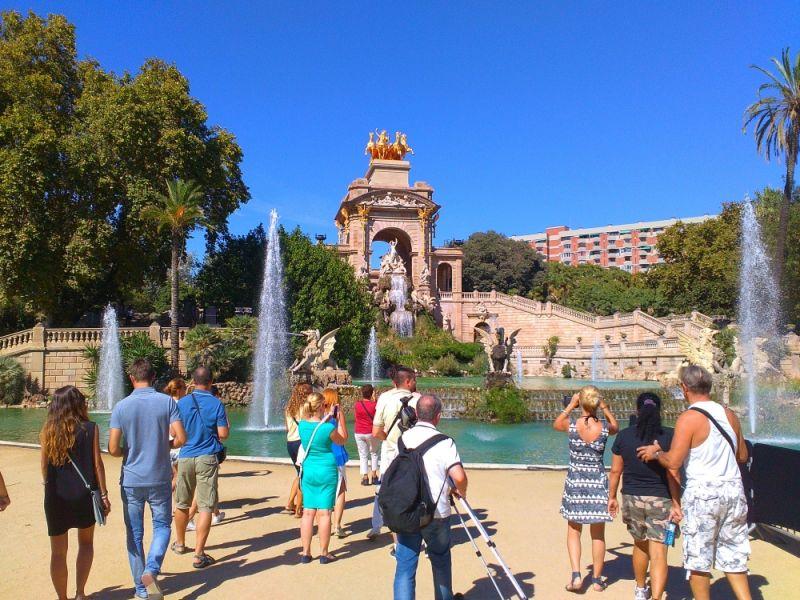 Španija Barselona fontana