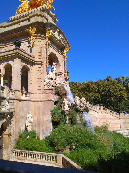 Fontana Barselona Španija leto